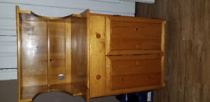 Solid Pine microwave stand