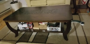 Selling coffee table and 2 end tables.