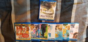 Kids blueray movies with one apocalypse movie $30