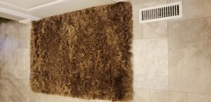 NICE SOFT MAT FOR BEDROOM OR BATHROOM, MULTI BROWN SHEARED