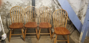 Four handcrafted dinning room chairs for sale
