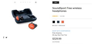 new bose soundsport free wireless neuf headphones écouteurs