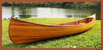 Cedar Strip Built Canoe Wooden Boat 12' w/ Ribs Woodenboat USA For Sale