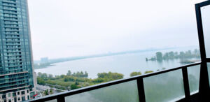 Luxury 1B + 1D Waterfront Condo for Rent