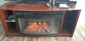 Electric fireplace & stand $160