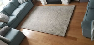 White and Grey Modern Area Rug