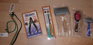 NEW pet grooming accessories $ 3 - $ 4 ea, cat collar $ 2