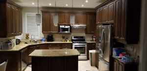 Solid Maple kitchen, island with Granite and pantry