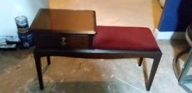 Mid Century Retro Telephone Table