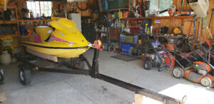 Bombardier Seadoo XP with trailer
