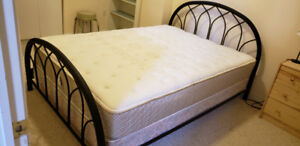 Donating set of bed frame, box spring and mattress