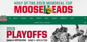 2 Moosehead tickets- Wednesday, April 24th