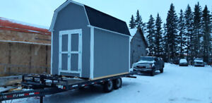 CABIN/ICE FISHING SHACK, BARN STYLE SHEDS WITH LOFT MANY OPTIONS