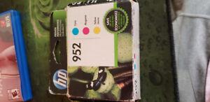 HP 952 ink cartridge CYAN, MAGENTA, YELLOW.