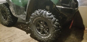 Bighorns and brute force rims. Trade for different tiresand rims