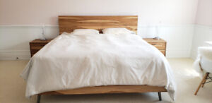 King size bed frame + Nightstands STRUCTUBE