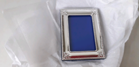 NEW 2x MATCHING SILVER PLATED PHOTO FRAMES