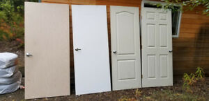 Inside house doors.  various size and stile