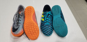 Indoor/Turf soccer shoes (Size 4 and Size 6)