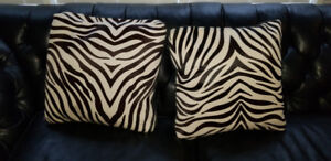 Pair of Down filled accent pillows