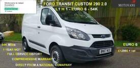 2017 Ford Transit Custom 2.0 290 L1 H1, 1 OWNER, FSH , 54K, EU 6 PANEL VAN Diese