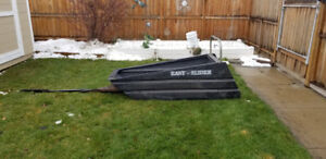 Easy Slider tow behind cargo sled with musher stand