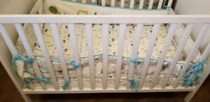 Crib - Matress & Cover & Bumpers - Like New