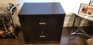 Black Oak Executive 2 Drawer Lateral File Cabinet