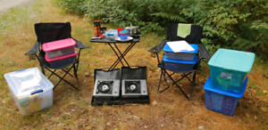 Camping travelling backpacking gear equipment
