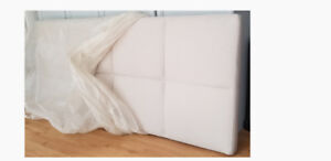 Headboard Queen Size Light Beige color.  Brand New Never Used.