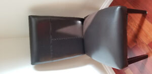 6 leather parson leather chairs