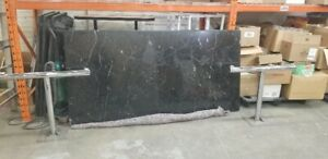 Large black marble top table 7ft x 3.5 ft