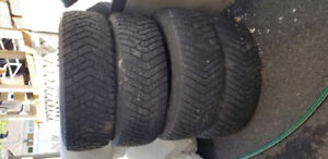 Winter tires with rims 15 inch 5 holes