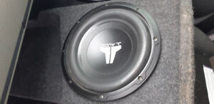 JL audio 10 in sub built in to box  and jvc deck . 200 for both