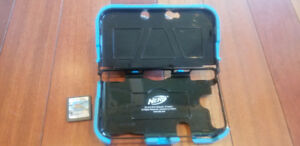 Nintendo 3DS case, charger and game