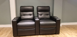 New Genuine Leather Power Recliner Home Theatre Sofa/Loveseat