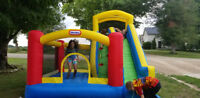 Bouncy  castle  and slide..