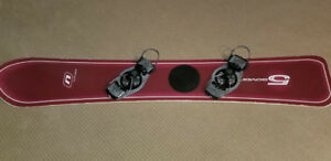 Nitro Carving Snowboard with hard boots.