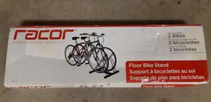 Bike storage rack new in box, holds two bikes
