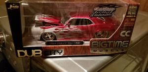 Jada toys big time muscle 69 Camaro candy apple red with flames