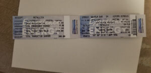 Metallica Ticket Saskatoon September 15