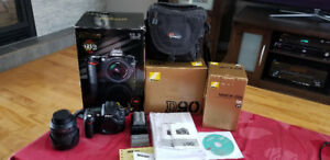Nikon d90 and lens 18-105mm VR dx f3.5-5.6g ed et sac lowpro