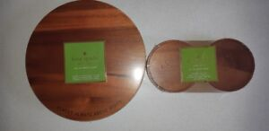 Kate Spade Wood Cutting Board and Coasters (Brand New)