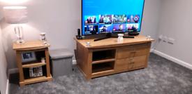Oak tv unit from oak furniture land