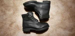 LIKE NEW! Timberland Premium 6 inch Mens Black Leather Boots