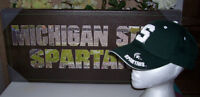 Michigan State Spartan Wall Print with Team Cap and T Shirt
