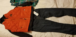 Boys long sleeve shirt, Jean's and vest size 5