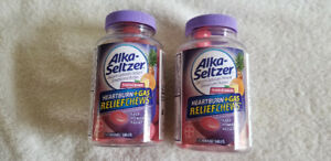 Alka-Seltzer Tropical Punch Heartburn+Gas Relief Chews-2 Bottles