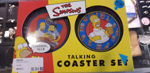 The Simpsons Talking Coaster Set