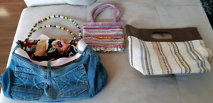 "Purses - 2 designer GABY's and one custom made ""Jeans purse"""